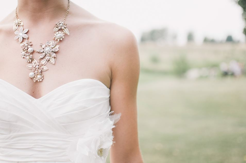 Bride with necklace photo